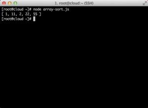 array-sort-output